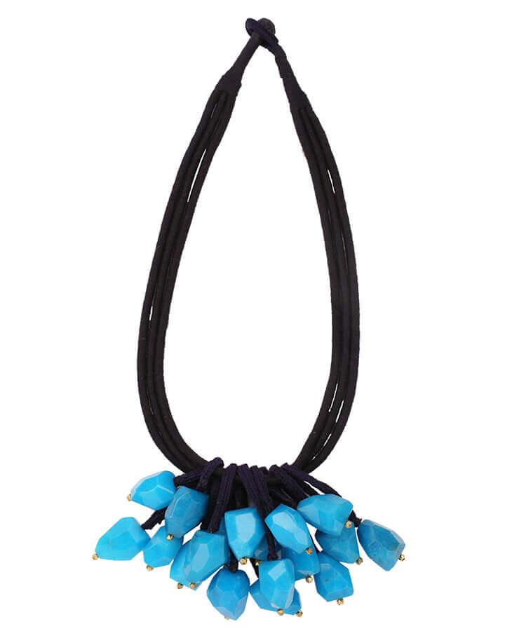 Isina Blue Stone Necklace